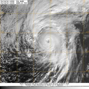 Hurricane Alex satellite image