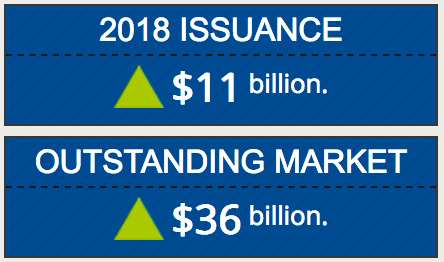 Cat bonds issued and outstanding in 2018