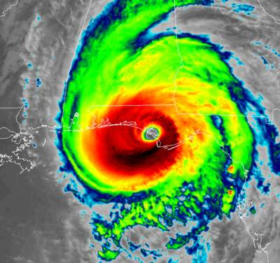 Hurricane Michael IR satellite image from RAMMB-CIRA