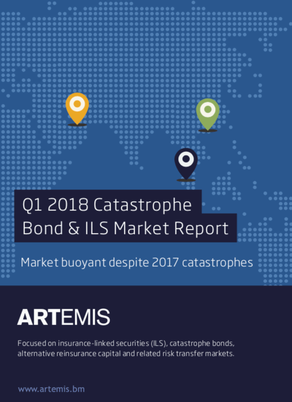 Q1 2018 Catastrophe Bond & ILS Market Report – Market buoyant despite 2017 catastrophes