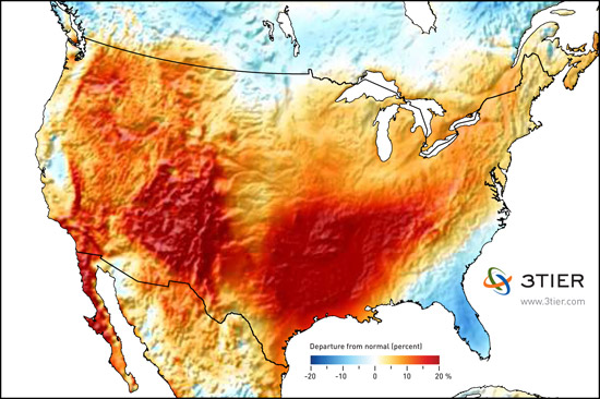 Wind performance map for Q2 2011