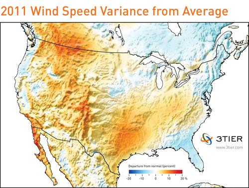 2011 wind speed variance map
