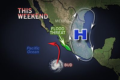 Hurricane Bud forecast from Accuweather