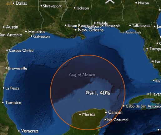 Gulf of Mexico disturbance with potential for tropical development