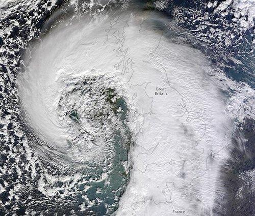 European windstorm Tini satellite image