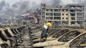Tianjin explosion aftermath