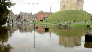 Flooding in York - Picture from the BBC