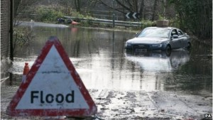 Flooding image from the BBC
