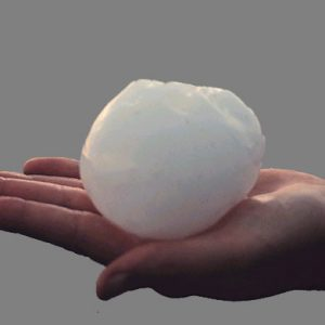 Large hail image from D-7 Roofing
