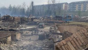 Fort McMurray wildfire damage (photo from the BBC)