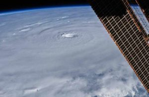 Hurricane image taken from the International Space Station