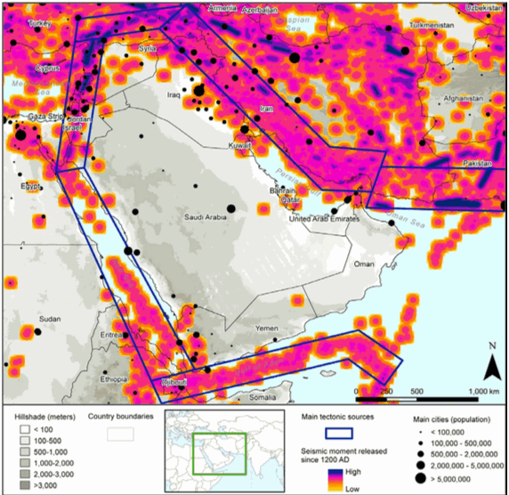 Middle East earthquake risk model