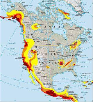 U.S. earthquake fault zones