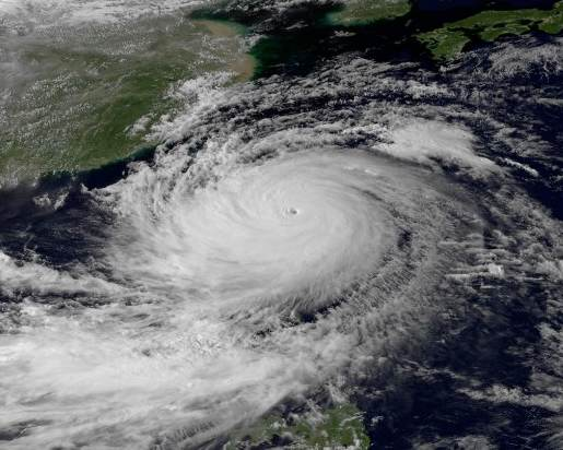 Hong Kong typhoon satellite image