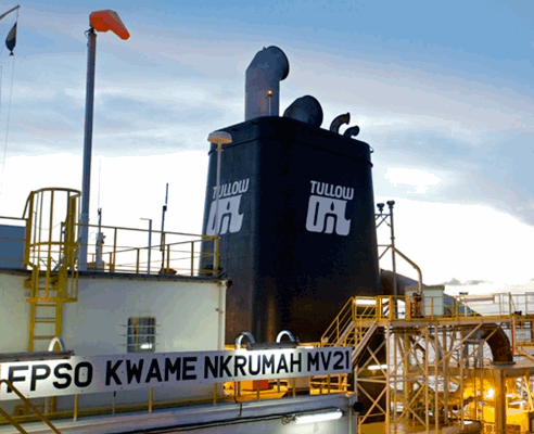 Jubilee oil field FPSO Kwame Nkrumah image from Tullow Oil