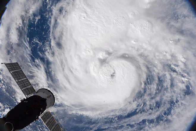 Hurricane Harvey photo from the space station