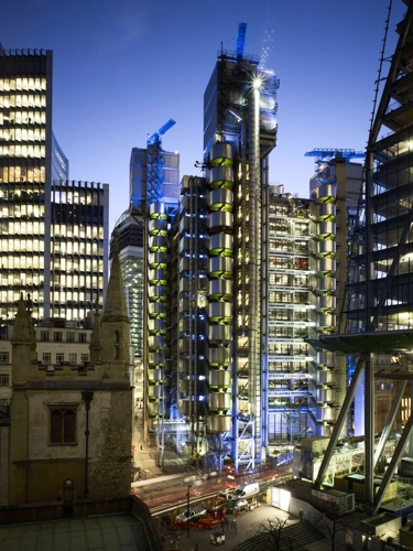 Lloyd's of London at night