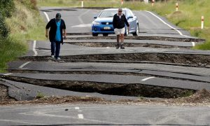 New Zealand earthquake damage picture from the Guardian