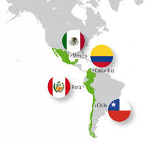 Map of Pacific Alliance countries