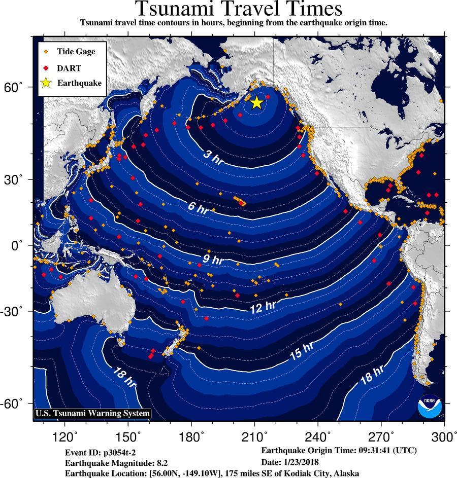 tsunami-wave-travel-times