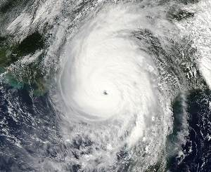 Hurricane Michael satellite