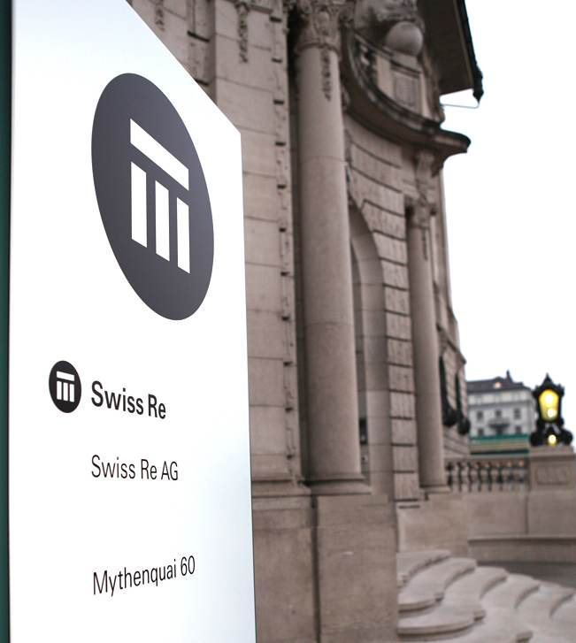 Swiss Re building logo