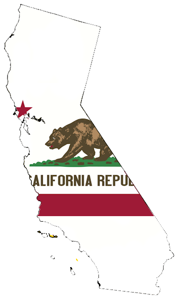 California flag map