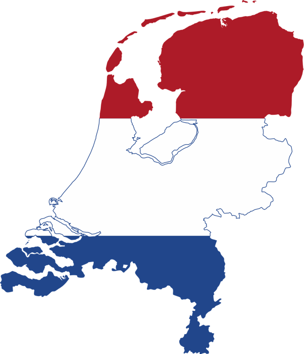 netherlands-flag-map